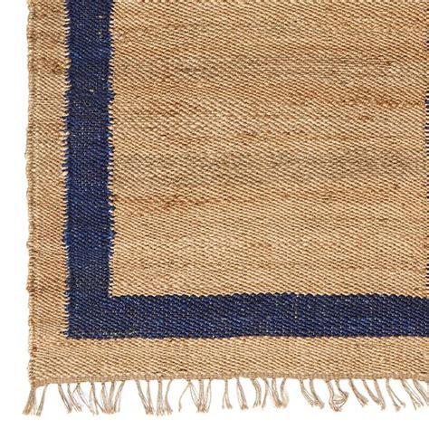 jute rug with border navy border jute rug caitlin wilson