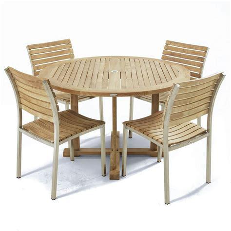 barbuda teak folding 4 foot diameter round table modern vogue 4 ft round teak side chair set westminster teak