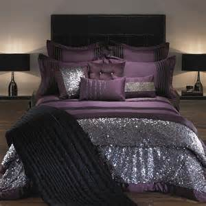 purple and silver bedroom adding glam touches 31 sequin home decor ideas digsdigs