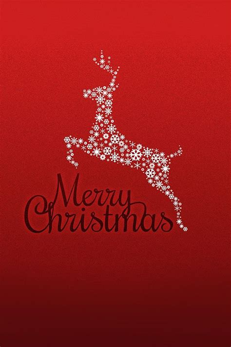 merry christmas red background rudolf reindeer iphone  wallpaper merry christmas