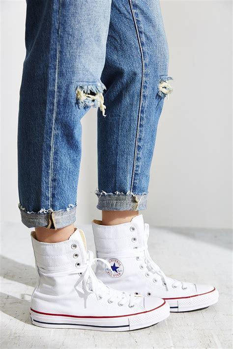 lyst converse chuck taylor  star high rise sneaker  white
