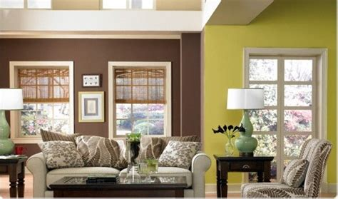 paint color choices for kitchen and family room combination brown decor mixed with green