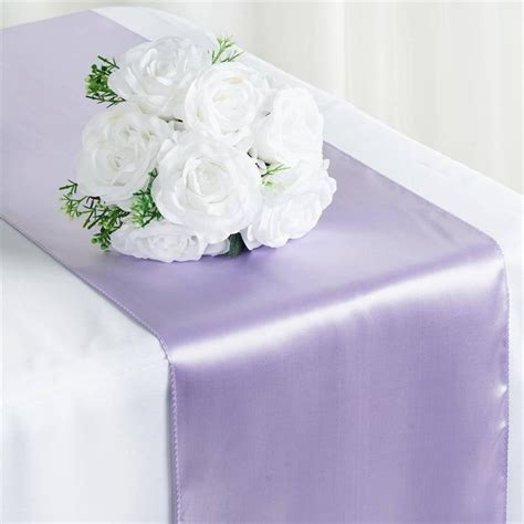 Satin Table Runner Taplak Satin Ungu satin table runner