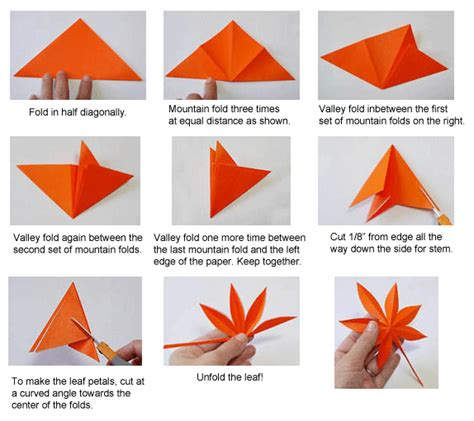 Origami Flower Leaves - origami maple leaf card ideas kirigami