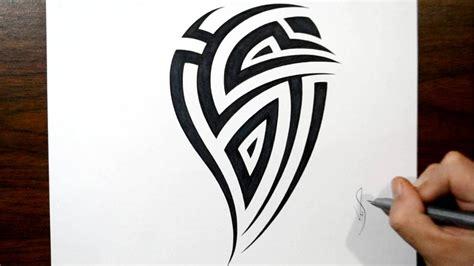 how to create a tattoo design how i draw a tribal arm design