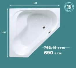 baignoire d angle en acrylique bain 1450mm