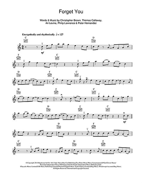 Forget You Piano Sheet With Letters