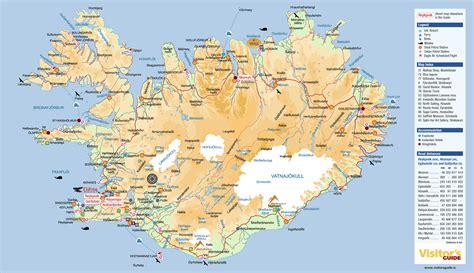 printable road map of iceland islande carte