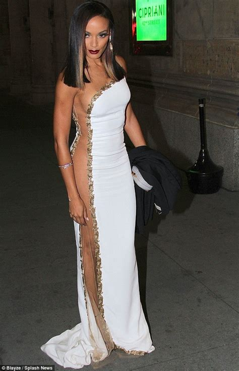 women in dresses without underclothes photos selita ebanks in dress with see through panels selita