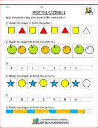 pattern worksheets reception 1000 images about patterns unit on pinterest patterns