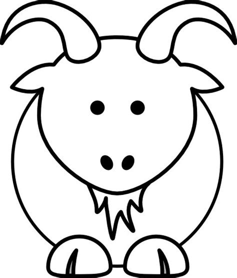 chinese new year goat coloring page goat clip art animal coloring pages could be applied to