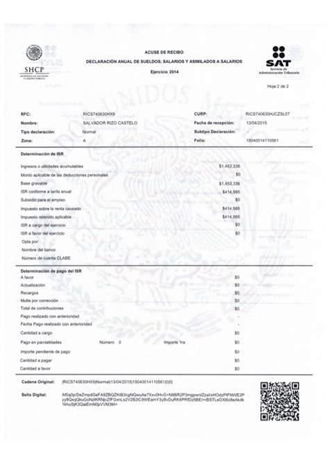 declasracion de impuestos tabulador 02 impuestos