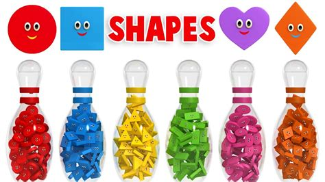 shapes and colors learn shapes with 3d bowling colors and shapes