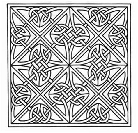 Knot Designs - free celtic lettering coloring pages