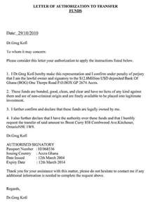 Authorization Letter For Transfer Account Name authorization letter to claim writing an authorization
