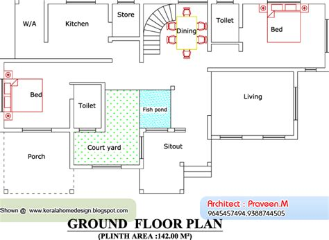 ground floor plan for 1000 sq feet home plan and elevation 2604 sq ft kerala house