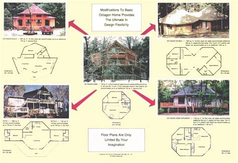 octagon cabin floor plans small octagon house plans studio design gallery