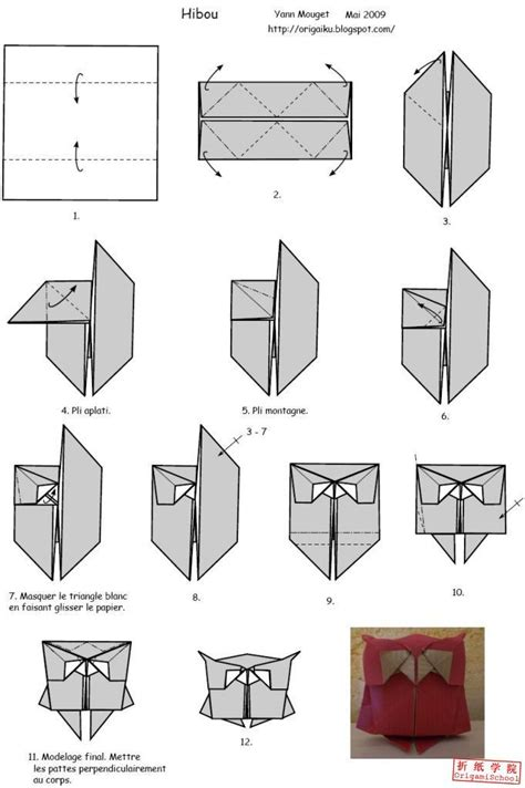 How To Make An Easy Origami - origami owl owl origami origami owl diagram