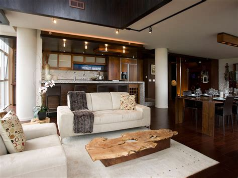 cream and brown living room ideas modern neutral open space living room hgtv