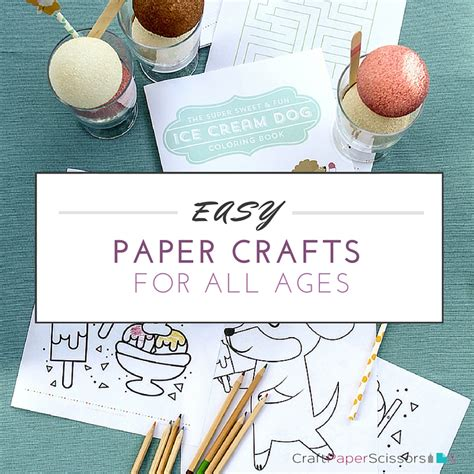 All Paper Crafts - easy paper crafts for all ages craft paper scissors