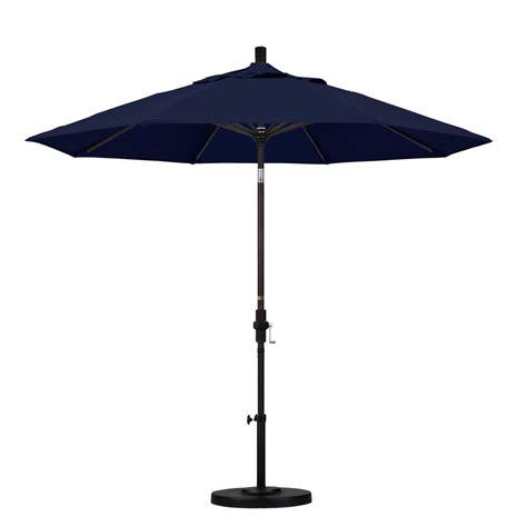 Navy Patio Umbrella California Umbrella 9 Ft Aluminum Collar Tilt Patio