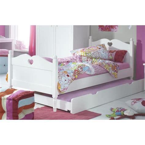 Lit Enfant Avec Tiroir Pas Cher by Lit Enfant Avec Tiroir Lit 90x200 Coloris Blanc Achat