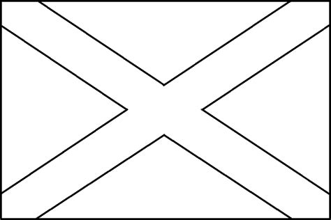 free a scottish flag coloring pages