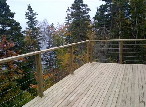 layout vs view rails great view from this deck wood post and rail with cable