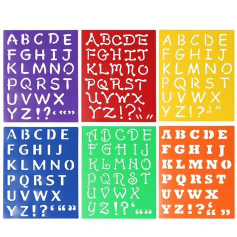 Font Acrylic plastic drawing font alphabet stencil letters uppercase