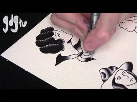 tattoo design tutorial how to paint school flash pin up designs