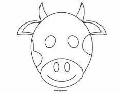 printable animal masks cow horse mask printable coloring page for kids kids crafts