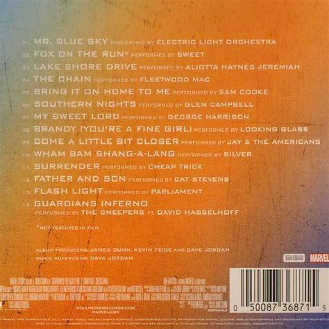 Cd Soundtrack Of Your various guardians of the galaxy awesome mix vol 2