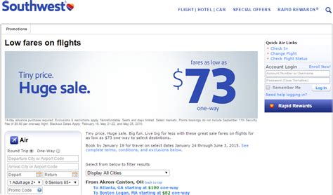 southwest sale southwest airlines fare sale book by jan 19 travel jan 24
