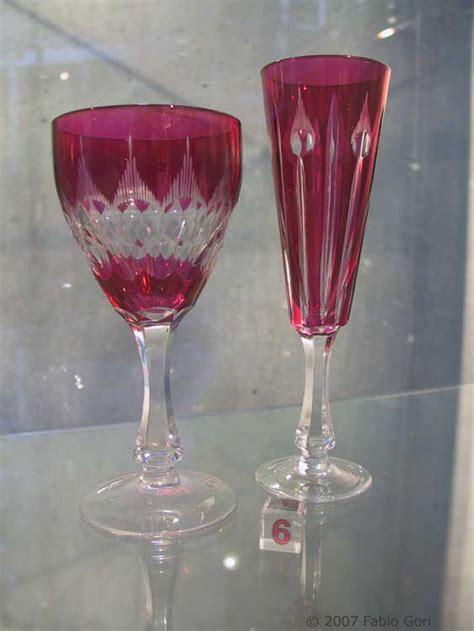 bicchieri in cristallo di boemia bicchieri importante servizio antico valdels cristallo