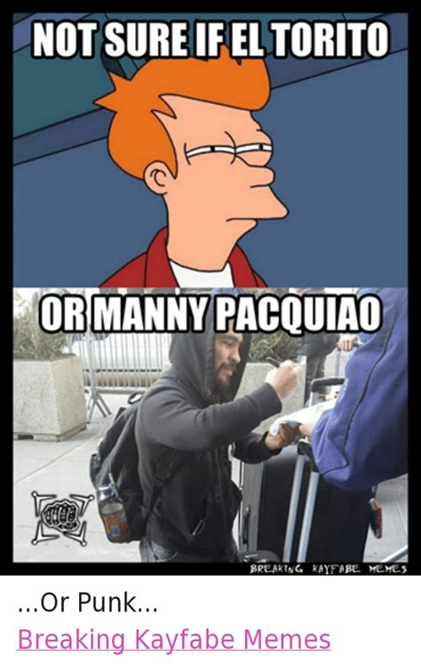 Manny Meme - not sure if el torito or manny pacquiao breaking kayfabe