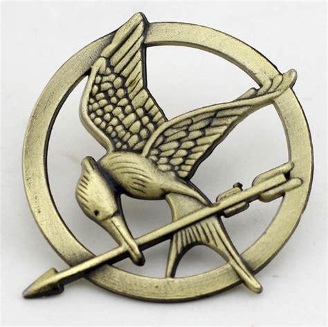 4 the hunger mockingjay pin bronze katniss everdeen bird badge prop brooch tribute token