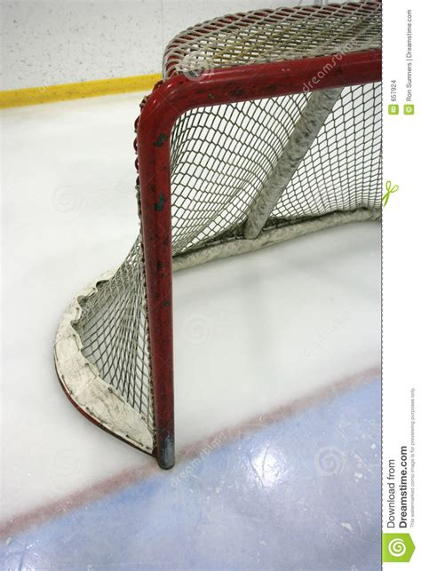 hockey net stock photo image  score crease save