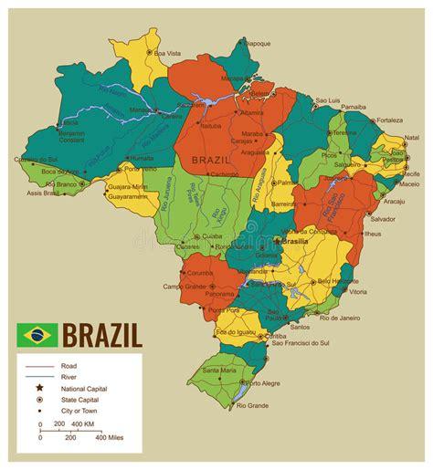 imagenes satelitales brasil mapa pol 237 tico de brasil com territ 243 rios selecion 225 veis