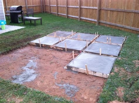 backyard sted concrete patio ideas diy patios on a budget and then on day two they poured