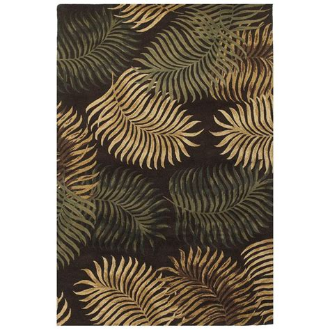 espresso rug kas rugs fern espresso 8 ft x 10 ft 6 in area rug hav26178x106 the home depot