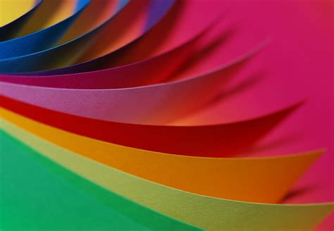colors in up photography of different type of colors of paper