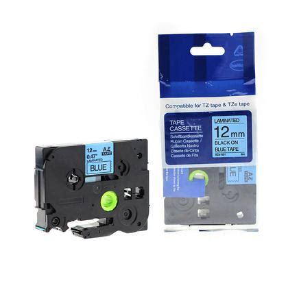 tze 531 label 12mm 0 47 quot black on blue