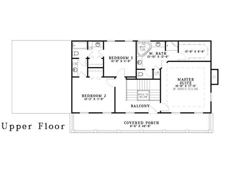second floor plans 3 bedrm 2247 sq ft southern house plan 153 1642