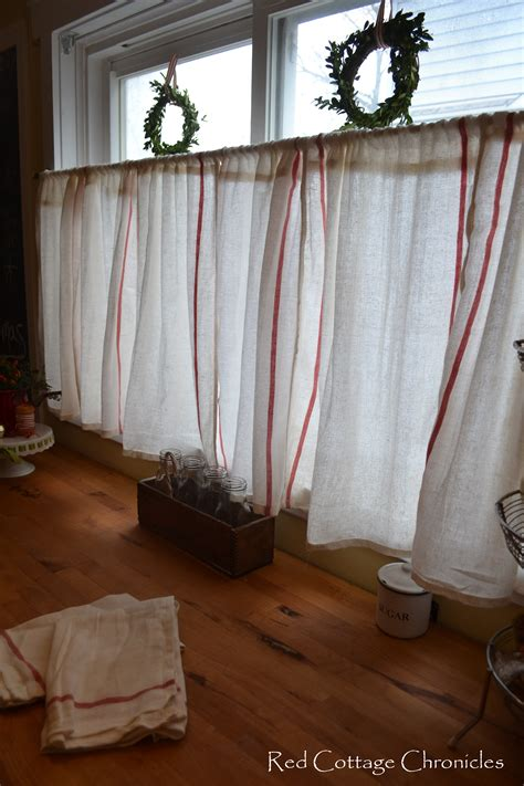 Cafe Curtains Ikea Ikea Dishtowel Hack Cottage Chronicles