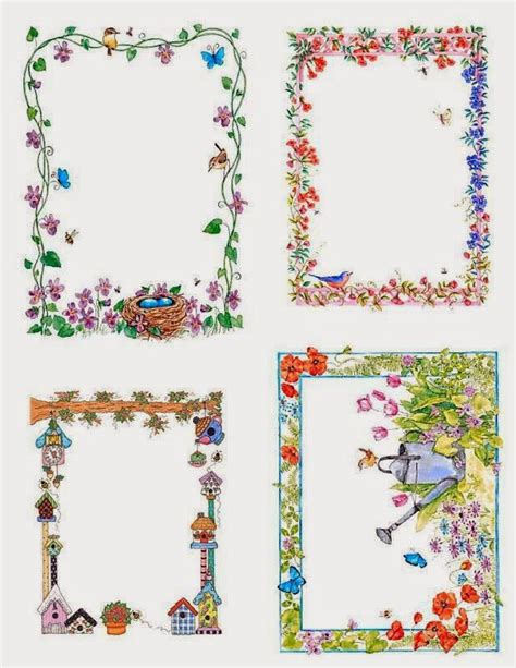 tarjetas infantiles para imprimir con marcos flores retro marcos o tarjetas para imprimir gratis