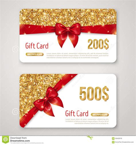design gift card template gift card design with gold glitter texture and stock