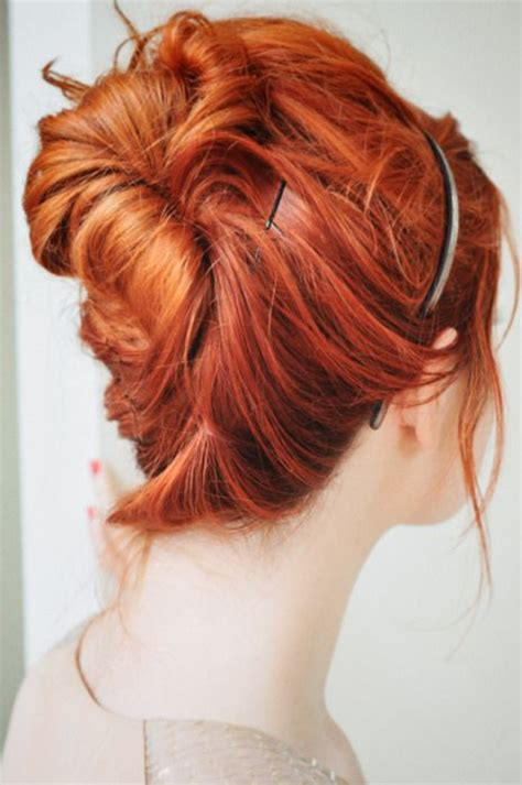 different colour updo hair styles red hair hair and red on pinterest