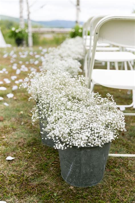Baby S Breath Wedding Aisle by 40 Rustic Country Buckets Tubs Wedding Ideas Deer