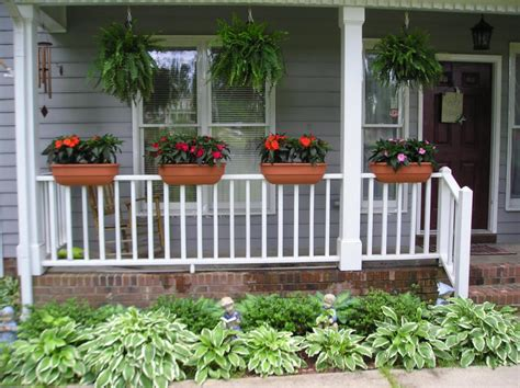 deck rail planters in dark gray doherty house deck