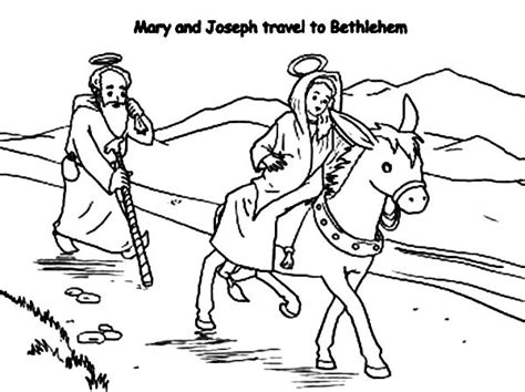 coloring pages mary and joseph bethlehem mary and joseph travel to bethlehem coloring pages